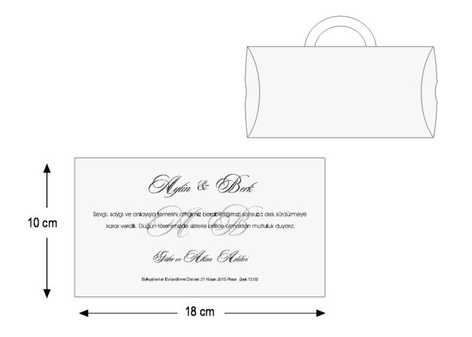 Rozměry svatebního oznámení 3675