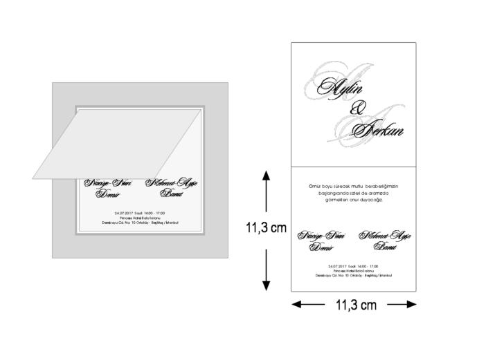 Rozměry svatebního oznámení 3676