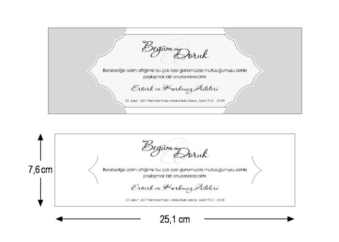 Rozměry svatebního oznámení 3679