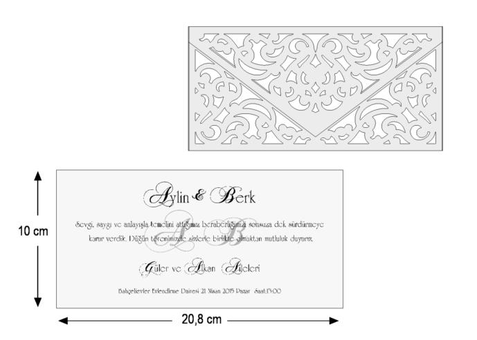 Rozměry svatebního oznámení 3691