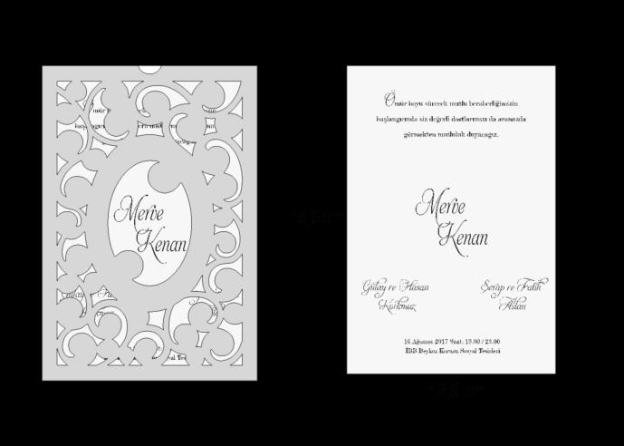 Rozměry svatebního oznámení 3694