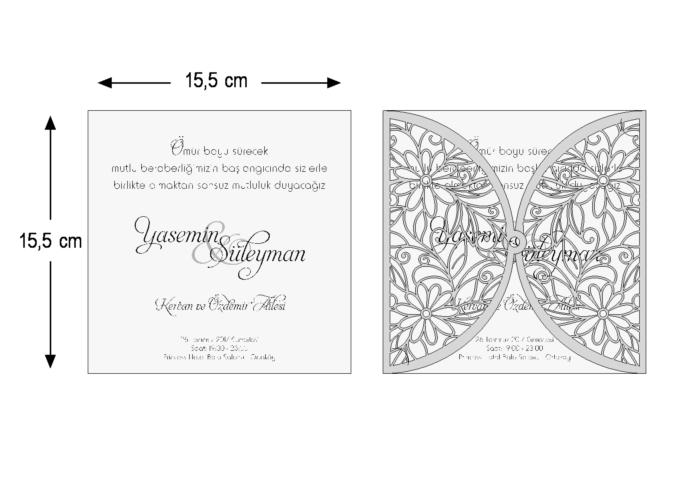 Rozměry svatebního oznámení 3695