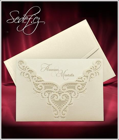 Svatební oznámení vzor 3698