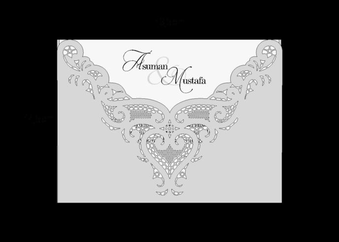 Rozměry svatebního oznámení 3699
