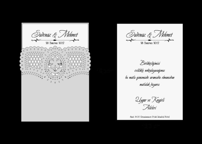 Rozměry svatebního oznámení 3702
