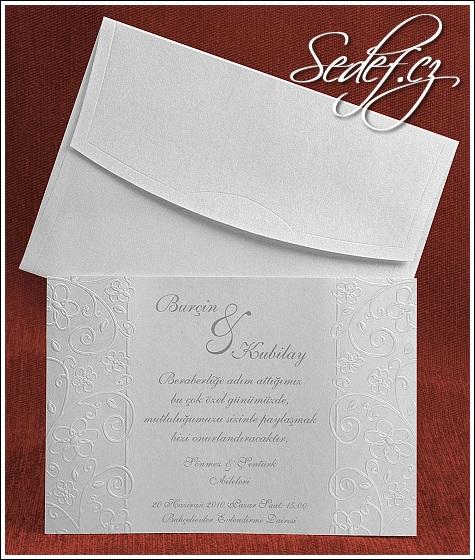 Světlé svatební oznámení vzor 5287