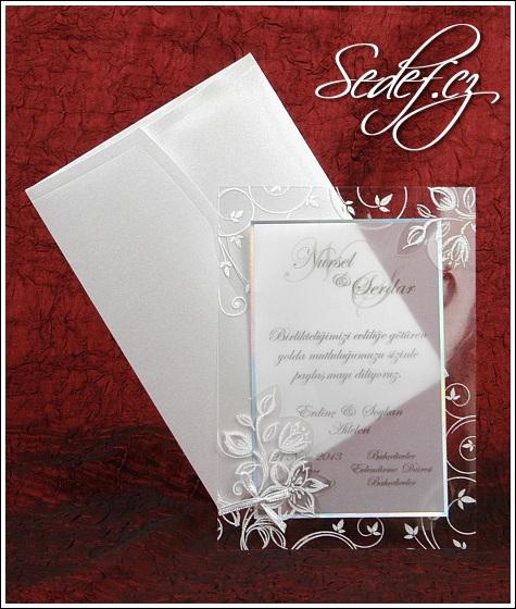 Svatební oznámení s pauzákem vzor 5313