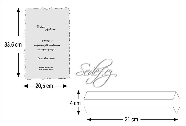 Rozměry svatebního oznámení 5316