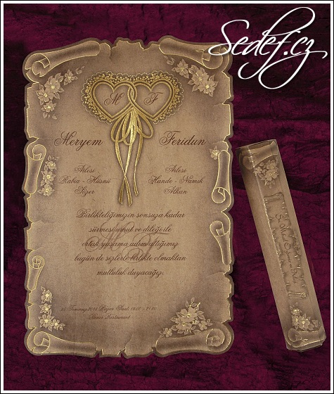 Svatební oznámení 5316 listina pergamen