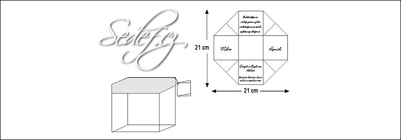 Rozměry svatebního oznámení 5358