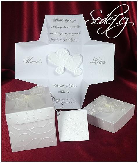 Svatební oznámení krabička vzor 5358