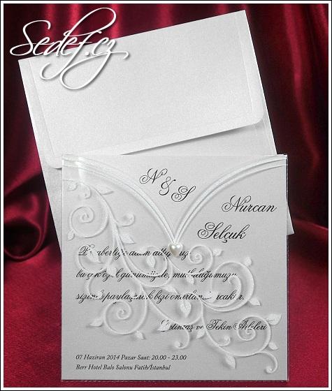 Čtvercové svatební oznámení vzor 5359