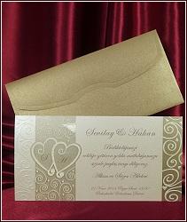 Svatební oznámení se srdíčky a s ornamenty, vzor 5374