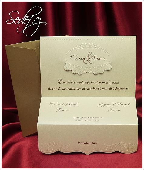 Svatební oznámení vzor 5389
