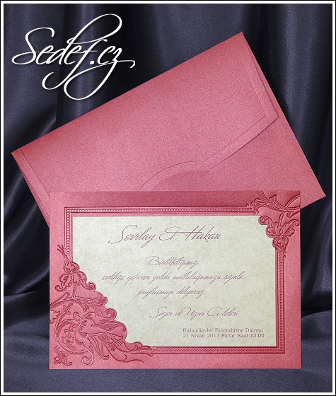 Růžové svatební oznámení vzor 5394