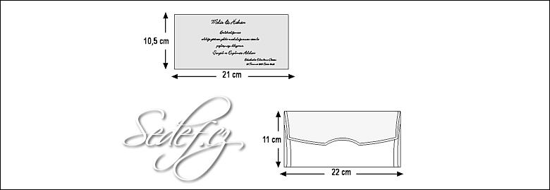 Rozměry svatebního oznámení 5395