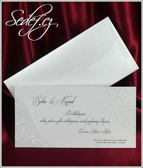 Svatební oznámení se slepotiskem vzor 5395