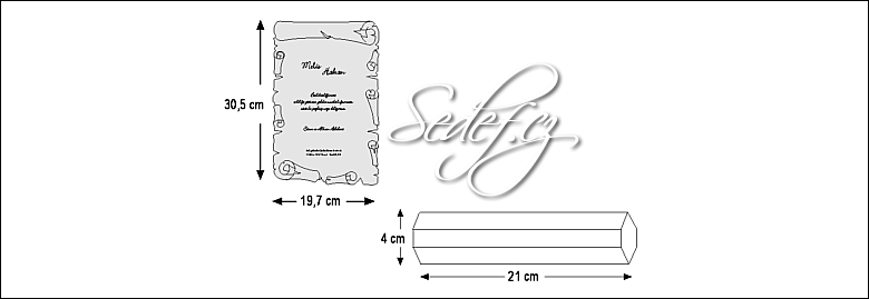 Rozměry svatebního oznámení 5398
