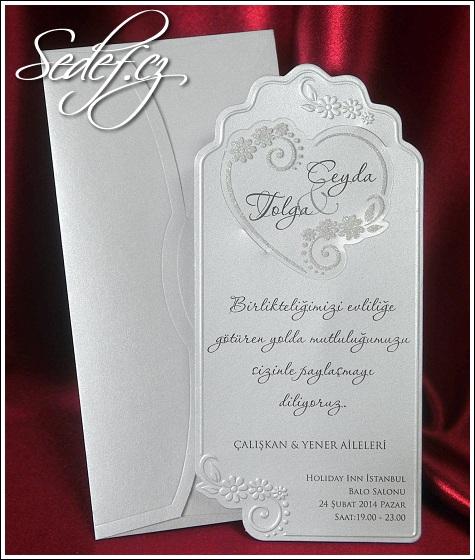 Svatební oznámení s výsekem vzor 5403