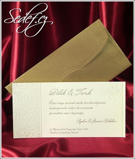 Kytičkované svatební oznámení vzor 5410