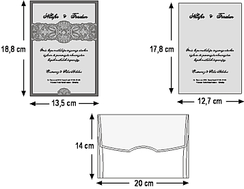 Rozměry svatebního oznámení 5423