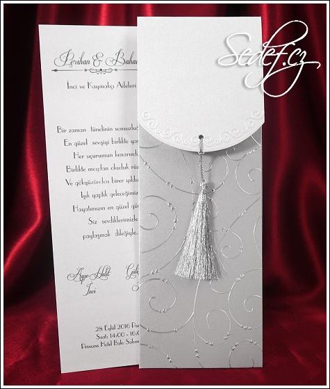 Svatební oznámení vzor 5442