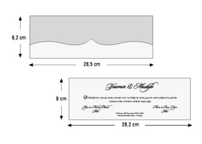 Rozměry svatebního oznámení 5470