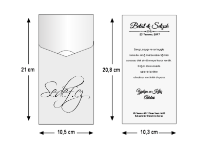 Rozměry svatebního oznámení 5474