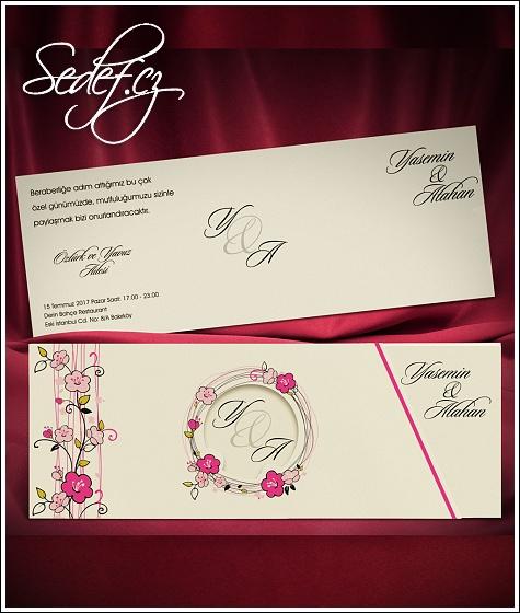 Svatební oznámení vzor 5476