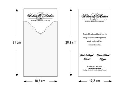 Rozměry svatebního oznámení 5495