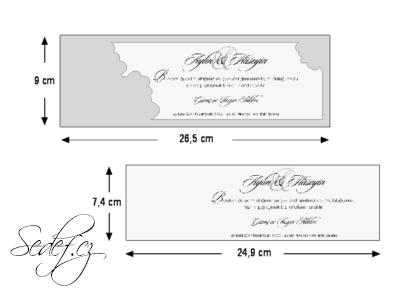 Rozměry svatebního oznámení 5503