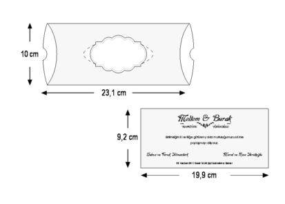 Rozměry svatebního oznámení 5505