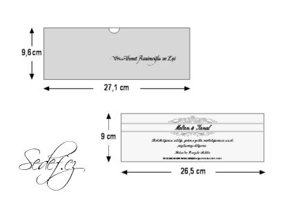 Rozměry svatebního oznámení 5506