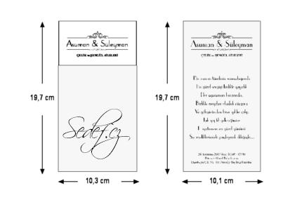 Rozměry svatebního oznámení 5507
