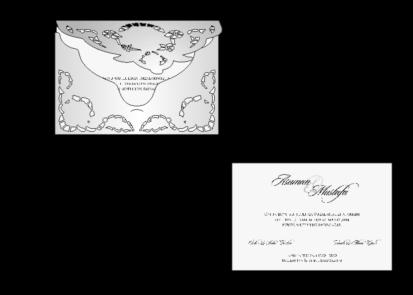 Rozměry svatebního oznámení 5532