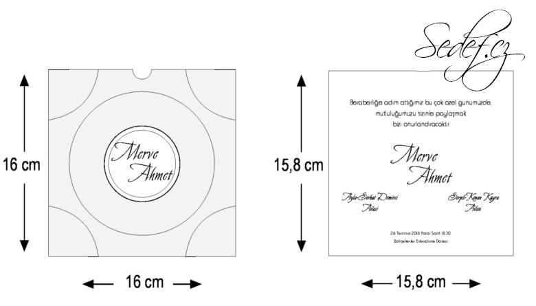 Rozměry svatebního oznámení 5535