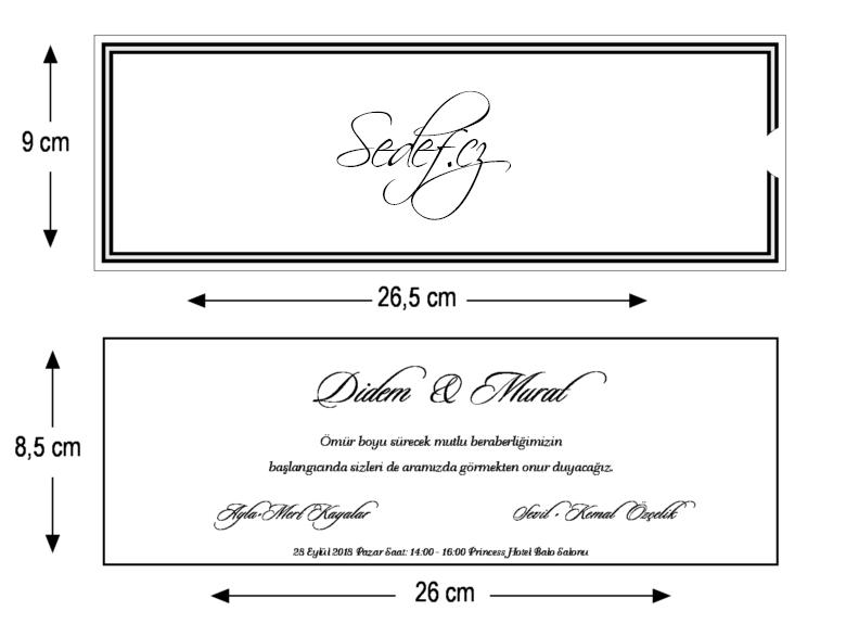 Rozměry svatebního oznámení 5539