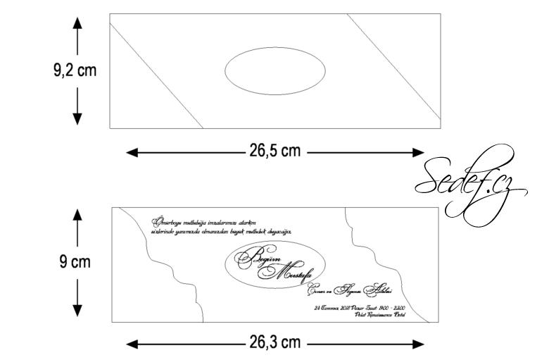 Rozměry svatebního oznámení 5546