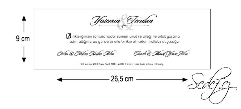 Rozměry svatebního oznámení 5547