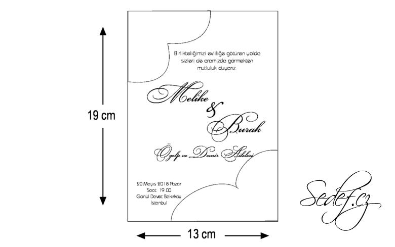 Rozměry svatebního oznámení 5551