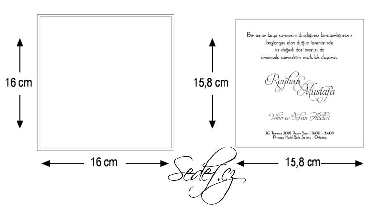 Rozměry svatebního oznámení 5557