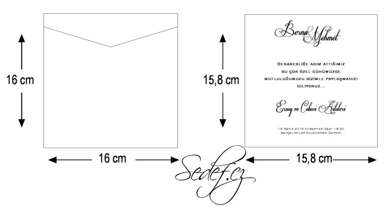 Rozměry svatebního oznámení 5558