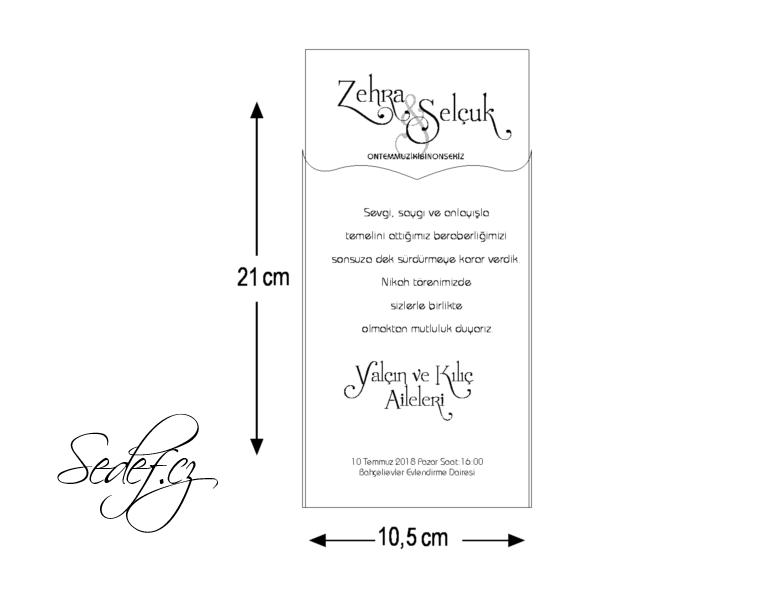 Rozměry svatebního oznámení 5575